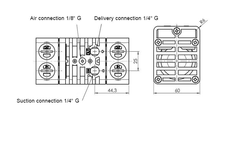 Diaphragm pump JP-800.5 - Jessberger Drum pumps