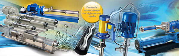 Eccentric screw pumps